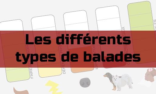 Les différents types de balades